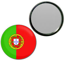 Portugal Flag - Round Compact Glass Mirror 55mm/77mm BadgeBeast