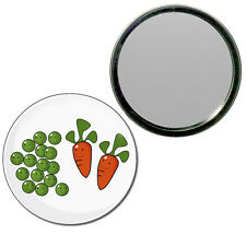 Peas and Carrots - Round Compact Glass Mirror 55mm/77mm BadgeBeast