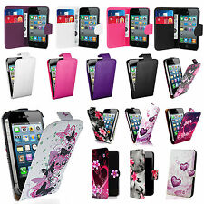 Pictured Pu leather flips & wallet case cover for iphone 4 4s 5 5s