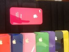 NUOVO HARD BACK CASE COVER PER APPLE IPHONE 4 4S 4G con proteggi schermo gratuito