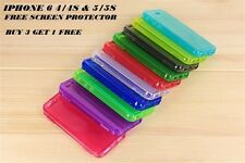 Silicone Gel Flip Case Cover For Apple Iphone 6 4 4S & 5 5S + Screen Protector