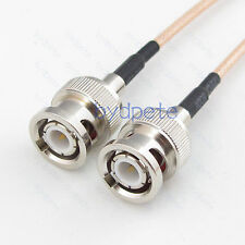 BNC male and BNC male plug RF Coax RG316 RG-316 Cable to Any Length bydpete Lot