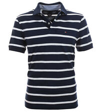 Tommy Hilfiger Poloshirt Polo Shirt Stripes navy Size S-XXXL