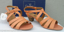 Caprice Ladies Leather Dress Sandals UK Size 4.5,5,5.5,7.5 RRP £55 Apricot New