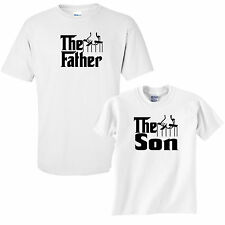 Father's Day Gift Son Matching T-Shirt Tee top present the godfather joke fun