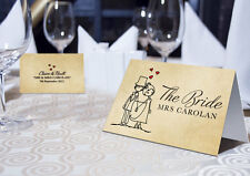PERSONALISED CHARACTER WEDDING PLACE NAME CARDS - PRINTED OR BLANK