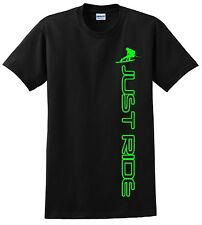 JUST RIDE WAKEBOARD T SHIRT WAKE BOARD SKATE BOAT ROPE VEST VERTICAL CWB RONIX