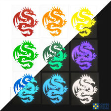 Tribal Dragon Hyper Reflective Safety Decal For Your Motorcycle or Helmet #303R