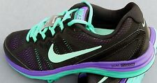 NIKE WOMENS DUAL FUSION RUN 2 MULTIPLE SIZES BLACK / GREEN / PURPLE  631050 007
