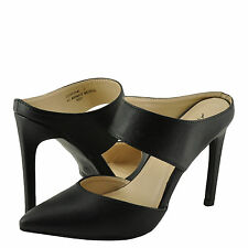 Women's Shoes Anne Michelle Steppup 03 Double Strap Mule Pumps Black *New*