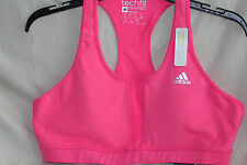 NWT! AdidasTech Fit Molded Medium Support  Bra Active $35 Pink