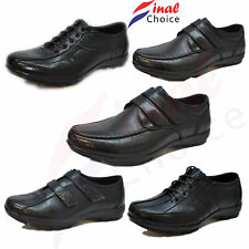 Boys Kids Uniform School Shoes Leather Grain Boot a Lot UK Sizes From 10-1 / 2-5