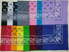 Lot Of  108 22 x 22 Paisley Print16 Colors Scarf Bandana 100% Cotton 9 Dozen