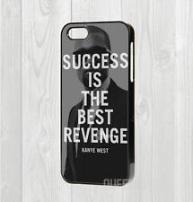 MADE FOR IPHONE 4 5 5C 6 6+ CASE - KANYE WEST SUCCESS QUOTE MOTIVATION RAPPER