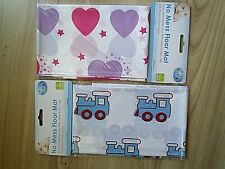UNDER BABY/CHILDS HIGH CHAIR & MESSY PLAY FLOOR MAT WITH HEART/TRAIN PRINTS 96cm