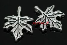 Lots 40/240pcs Tibetan Silver maple leaf Jewelry Finding Charms pendant 17x13mm