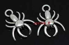 Lots 50/300pcs Tibetan Silver spider Jewelry Finding Charms Pendant DIY 17x14mm