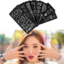 Large Image Nail Art Stamping Plate Stamp Plates Template Manicure Tool GA