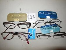 Foster Grant Ladies Handcrafted Fun Frames Reading Glasses +1.25 Lot of 4 Pairs