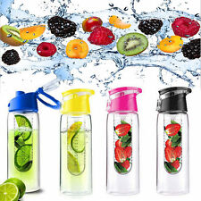 Fashion Portable Clear My Bottle Sport Plastic Fruit Juice Water Cup 800ML