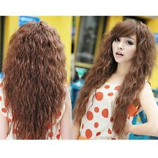 Fashion Style Womens Long Weave Curly Wavy Hair Wigs Full Wigs Party Wig 3 Color