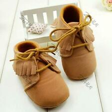 New Baby Girl Shoes Toddler Sneaker Warm Soft Boots Lace Up Crib Shoes 3-12M W16
