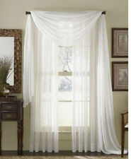 1 PC WHITE SOLID VOILE SHEER PANEL WINDOW CURTAIN DRAPE TREATMENT SCARF