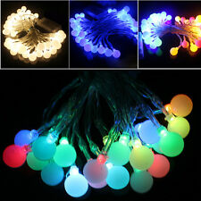 Battery Powered Berry Balls LED Fairy Lights 2M 20LED ON+Flash Modes Xmas Garden
