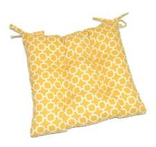 In / Outdoor Yellow Hockley Dining Chair Tufted Cushion w/ Ties - Choose Size