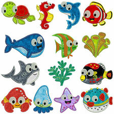 * SEA ANIMALS * Machine Applique Embroidery Patterns * 14 Designs, 2 sizes
