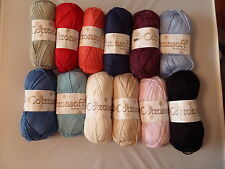 COTTONSOFT DK 100g KING COLE - WIDE CHOICE OF COLOURS - 100% COTTON