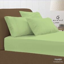 NEW FITTED BED SHEET, SINGLE DOUBLE KING BED SIZE, ALL PLAIN COLOURS POLY-COTTON