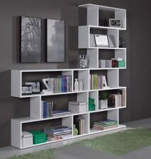Ciara Room Divider 3 or 6 Tier Bookcase Ultra Modern Display Unit in White