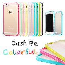 Silicone Made Hard Side Bumper for Apple iPhone Case Cover 6 6S Plus Clear Back