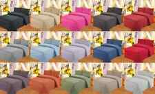 SET SOLID SHEET Egyptian MICROFIBER FLATE , FITTED , PILLOW CASES MANY SIZES
