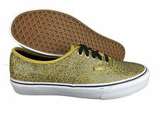 VANS. Authentic. Glitter Gold / Dots. Womens Shoe. Mens US Size 8.5.