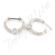 HINGED SEPTUM RING Surgical Steel 1.2 x 10mm MULTI GEMS Clicker Nose Tragus Bar