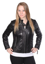 MICHAEL KORS Motorcycle Leather Jacket with Buckle Collar