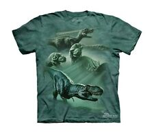 The Mountain 100% Cotton Dinosaur Collage Graphic Novelty T-Shirt NEW