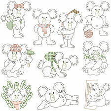 KOALA * Machine Embroidery Patterns * 10 Designs, 2 Sizes *