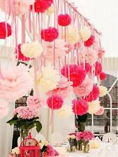 Wedding Party Home Birthday Tissue Paper Pom Poms Flower Balls Decorations 4""