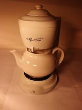Unused MRS TEA For Two Electric hot tea maker by MR. COFFEE New!