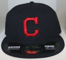 MLB Cleveland Indians New Era On Field 59Fifty Cap w/ Red C 59Fifty Hat