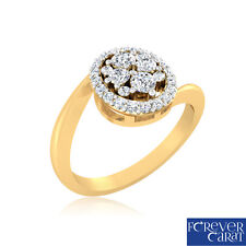 0.29 Ct Certified Real Diamond Engagement Ring 14K Hallmarked Gold Wedding Ring