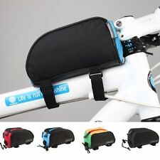 Outdoor Cycling Front Frame Tools Bag Bike Tube Pannier Outdoor Bicycle Pouch