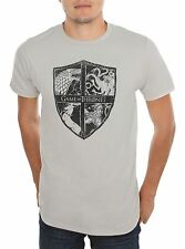 Game Of Thrones FOUR HOUSES SIGILS CREST T-Shirt NWT Licensed & Official