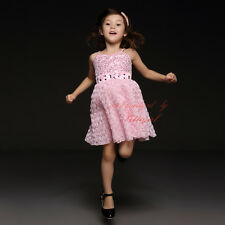 Girl Princess Dress Summer Chiffon Clothes With Diamond Baby Kids Flower Dresses