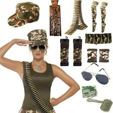 ARMY LADIES MENS FANCY DRESS COSTUME ACCESSORIES HEN STAG NIGHT MILITARY