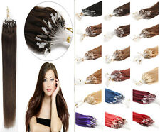 Grade 7A Remy Human Hair Extensions Loop Silicone Micro Rings Bead Tip 100g/Pake