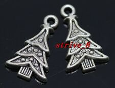 40/200pcs Tibetan Silver Christmas tree Alloy Jewelry Charms Pendant 23x14mm